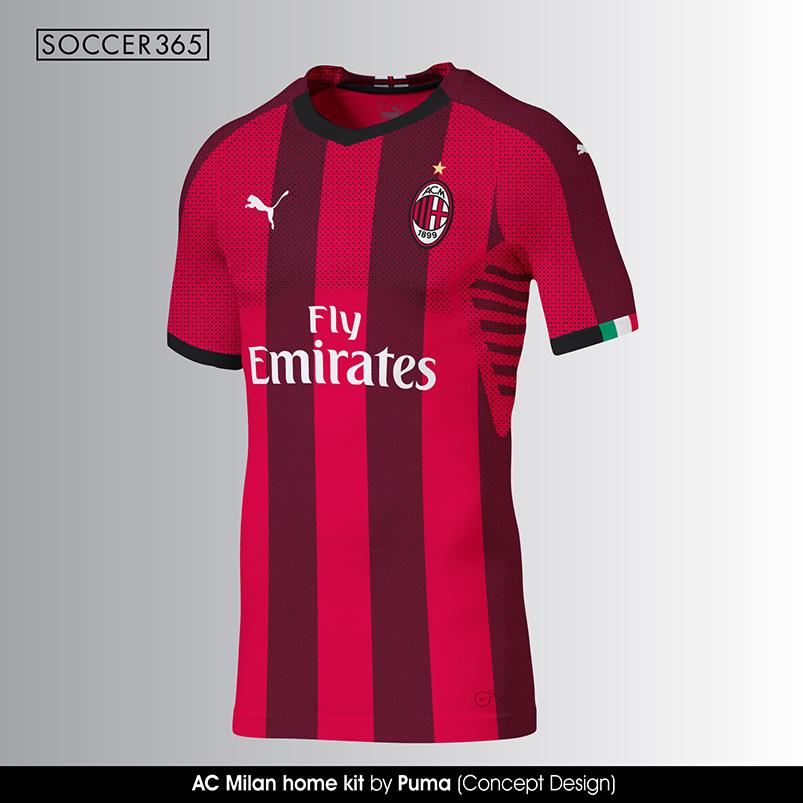 Новая форма ФК «Милан» сезона 18/19 от Puma